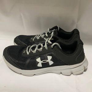 Gray and White Under Armour Shoes